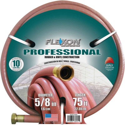 Flexon 5/8 In. Dia. x 75 Ft. L. Professional Commercial Garden Hose