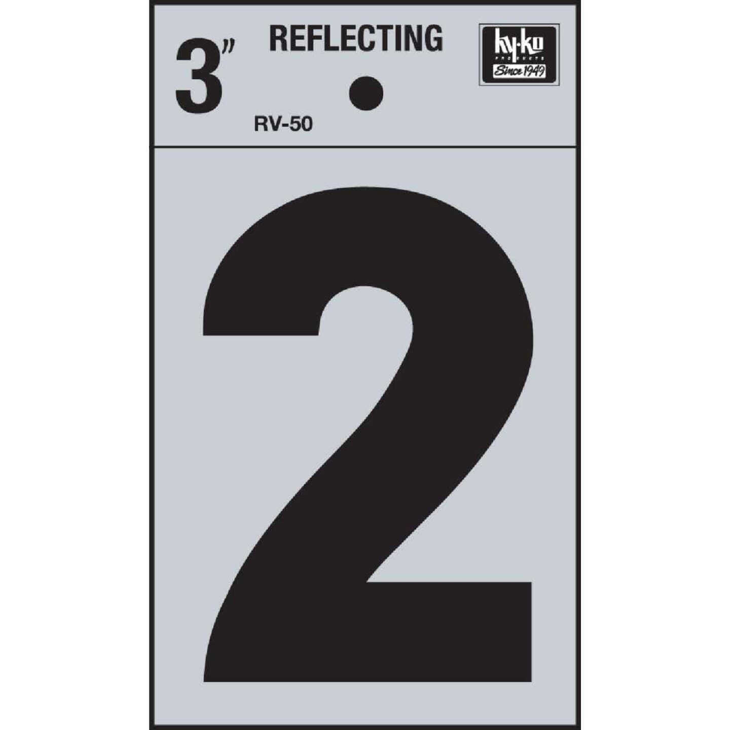 Hy-Ko Vinyl 3 In. Reflective Adhesive Number Two Image 1
