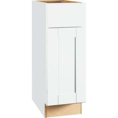 Continental Cabinets Andover Shaker 12 In. W x 34 In. H x 24 In. D White Thermofoil Base Kitchen Cabinet