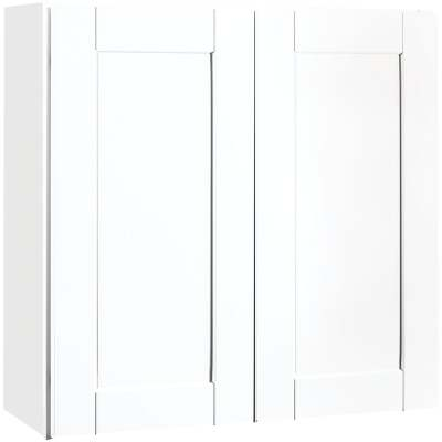 Continental Cabinets Andover Shaker 30 In. W x 30 In. H x 12 In. D White Thermofoil Wall Kitchen Cabinet