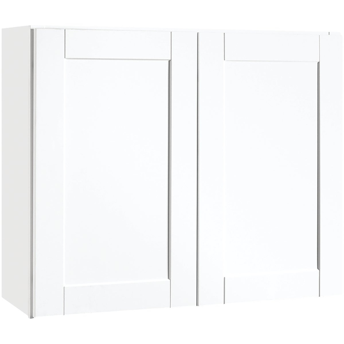 Continental Cabinets Andover Shaker 36 In. W x 30 In. H x 12 In. D White Thermofoil Wall Kitchen Cabinet Image 1