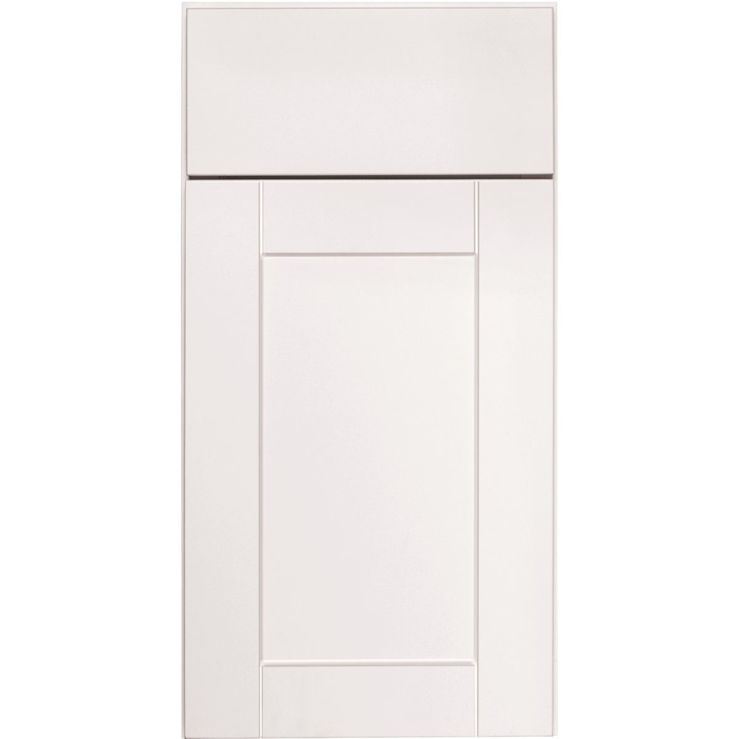 Continental Cabinets Andover Shaker 30 In. W x 34 In. H x 24 In. D White Thermofoil Base Kitchen Cabinet Image 3