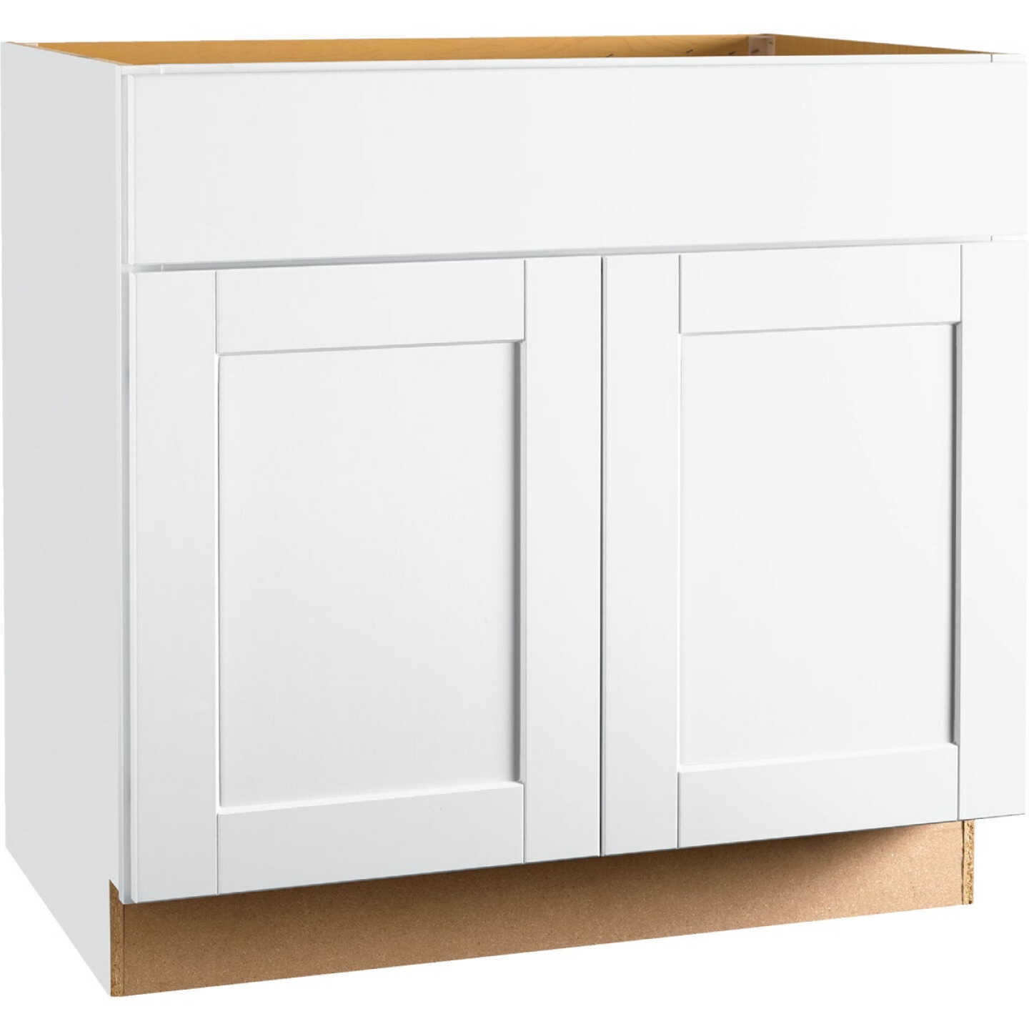 Continental Cabinets Andover Shaker 36 In. W x 34-1/2 In. H x 21 In. D White Vanity Sink Base Image 1