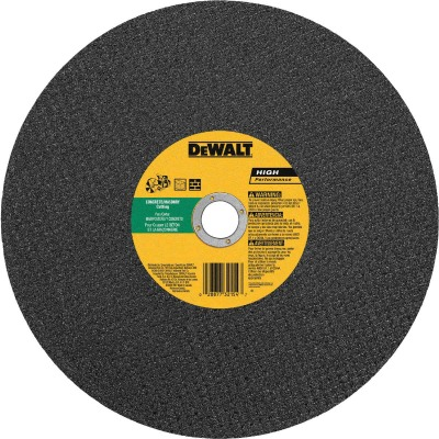 DeWalt HP Type 1 14 In. x 1/8 In. x 20 mm Masonry Cut-Off Wheel