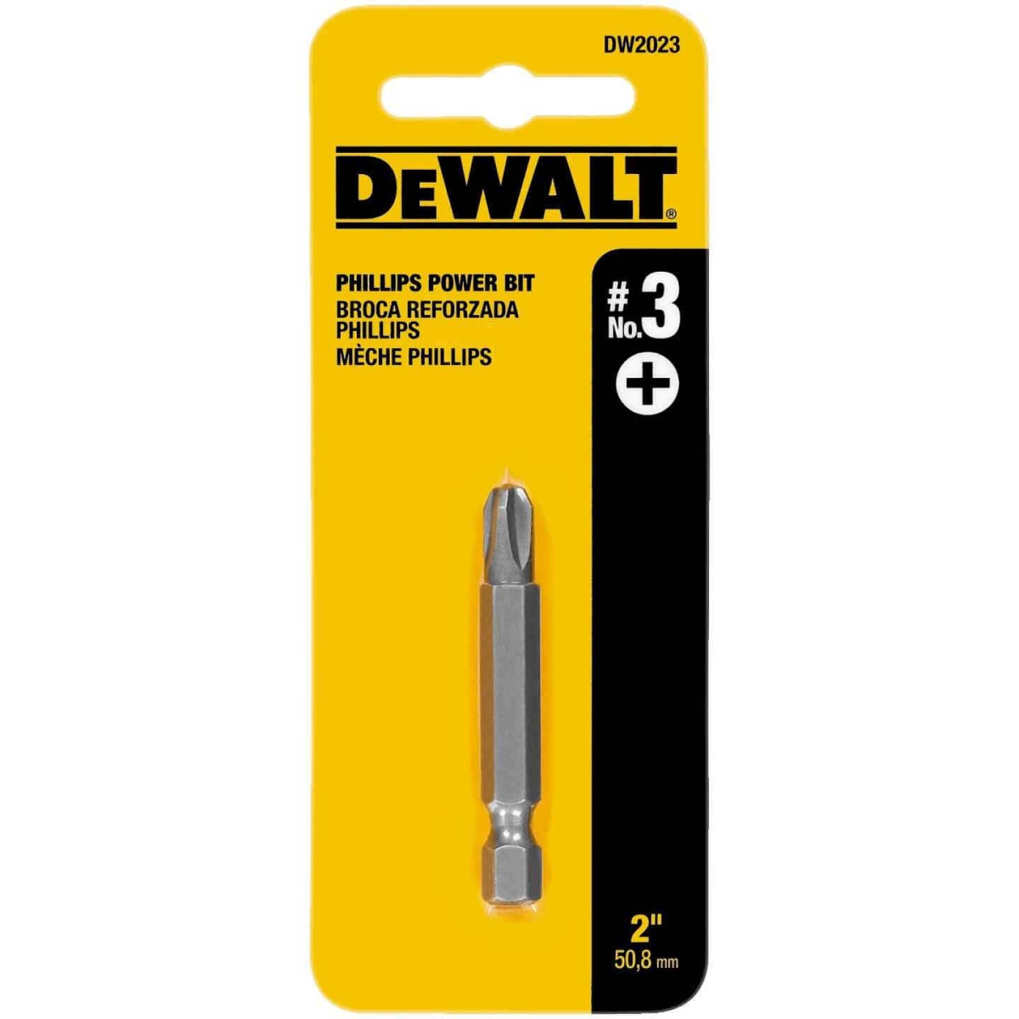DeWalt Phillips #3 2 In. Power Screwdriver Bit Image 1
