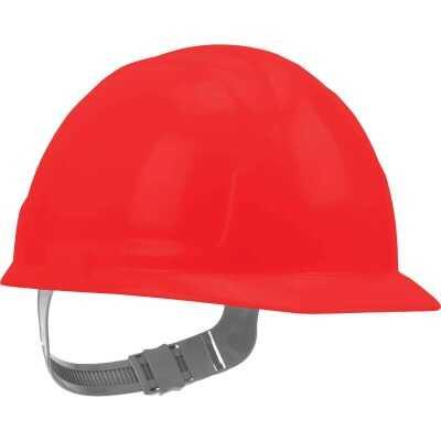 Safety Works Red Cap Style Slip Ratchet Hard Hat