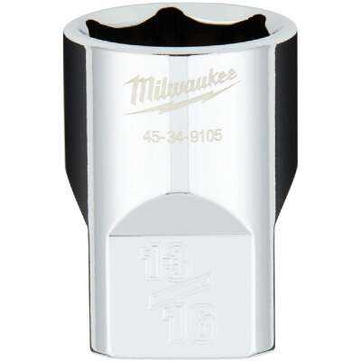Milwaukee 1/2 In. Drive 13/16 In. 6-Point Shallow Standard Socket with FOUR FLAT Sides