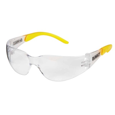 DeWalt Protector Clear/Yellow Frame Safety Glasses with Clear Lenses