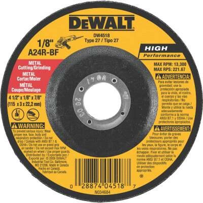 DeWalt HP Type 27 4-1 In. x 1/8 In. x 7/8 In. Metal Grinding Cut-Off Wheel