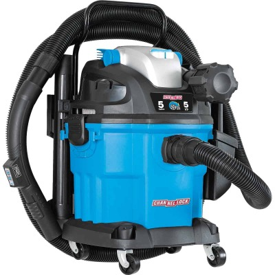 Channellock 5 Gal. 5.0-Peak HP Wall Mount Wet/Dry Vacuum