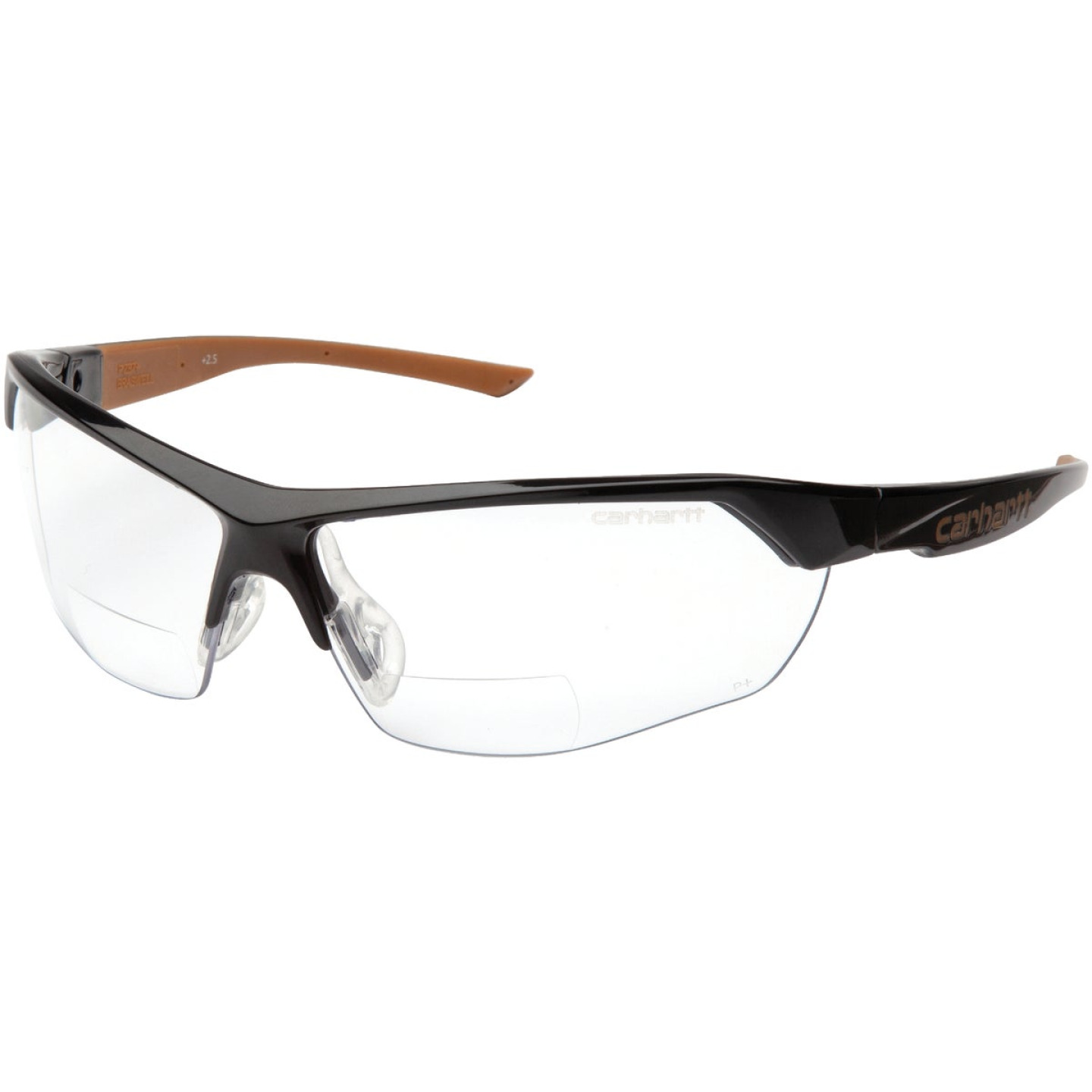 Carhartt Braswell Black Frame Reader Safety Glasses with Clear Anti-Fog Lenses, 2.0 Diopter Image 1
