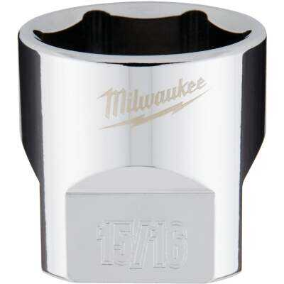 Milwaukee 3/8 In. Drive 15/16 In. 6-Point Shallow Standard Socket with FOUR FLAT Sides