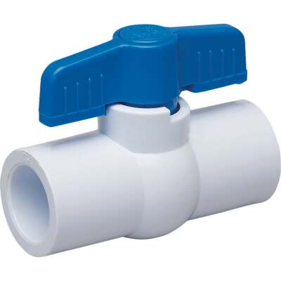 Proline 1/2 In. Solvent x 1/2 In. Solvent PVC Schedule 40 Quarter Turn Ball Valve, Non-NSF