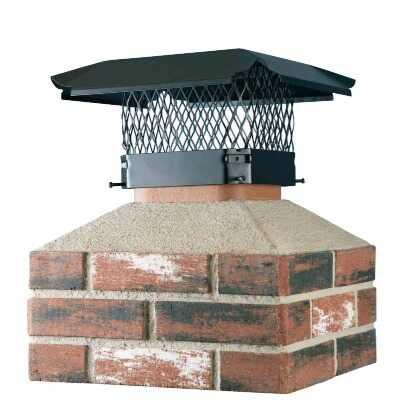 Shelter 13 In. x 18 In. Black Galvanized Steel Chimney Cap