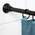 Zenna Home NeverRust 44 In. to 72 In. Adjustable Tension Decorative Shower Rod in Black Image 2