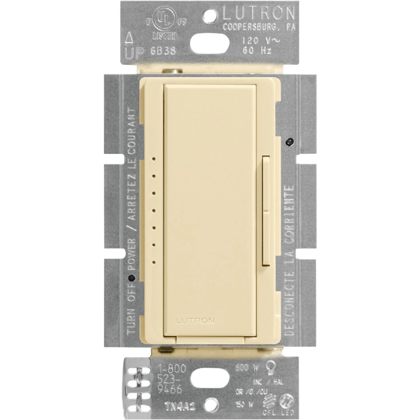 Lutron Maestro CL Ivory 120 VAC Wireless Dimmer Image 3