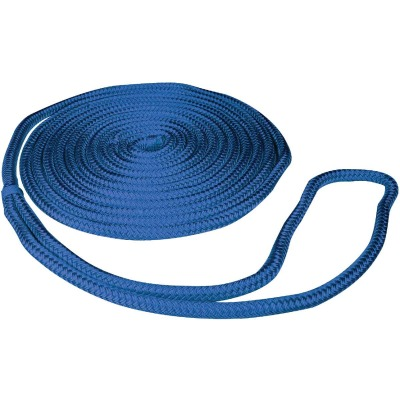 Seachoice 3/8 In. x 15 Ft. Blue Double Braid Nylon Dock Line