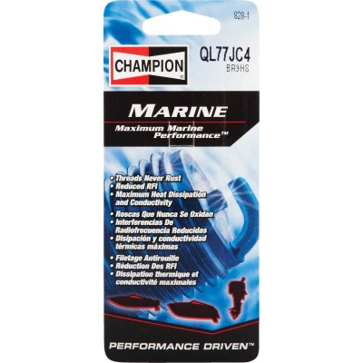 Champion QL77JC4 Copper Plus Marine Spark Plug