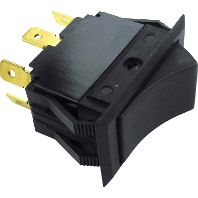 Seachoice 15A 12V Black Rocker Switch, On/Off/On