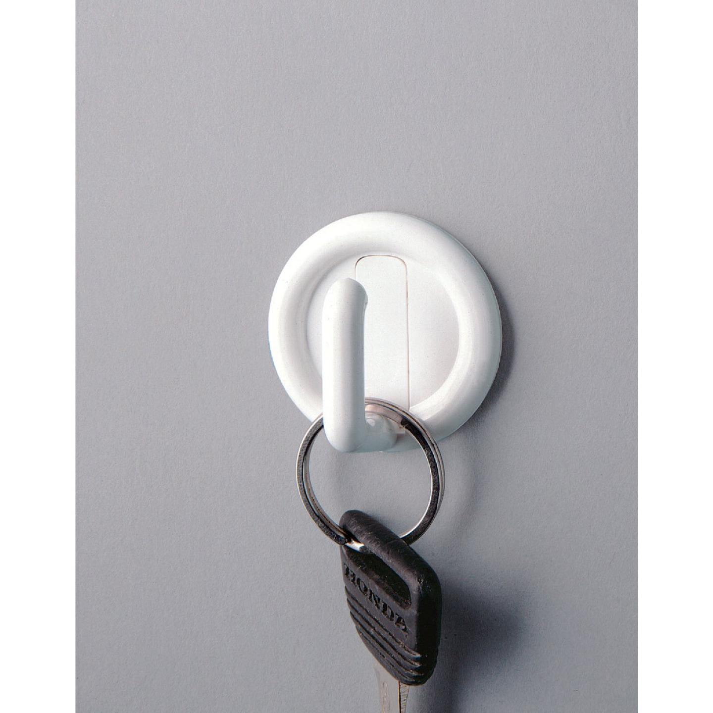 InterDesign Axis Utility Round White Adhesive Hook Image 2