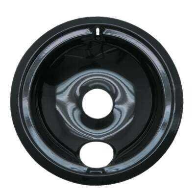 "Range Kleen Electric 8"" Style B Round Black Drip Pan"