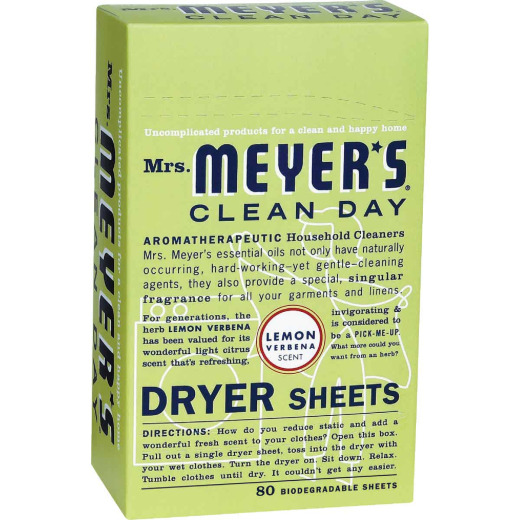 Mrs. Meyer's Clean Day Lemon Dryer Sheet (80 Count)
