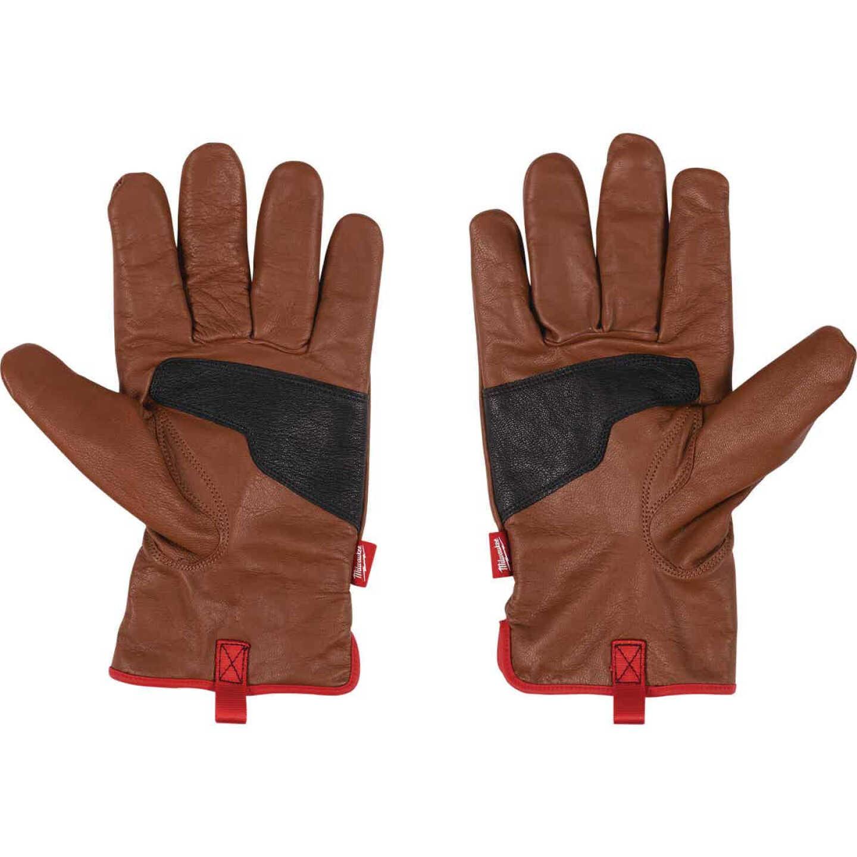 Milwaukee Impact Cut Level 3 Unisex Large Goatskin Leather Work Gloves Image 2