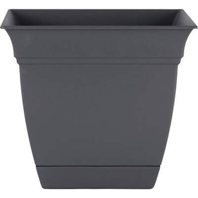 HC Companies Eclipse 10 In. x 10 In. x 8.75 In. Resin Warm Gray Planter