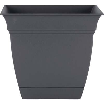 HC Companies Eclipse 12 In. x 12 In. x 10.50 In. Resin Warm Gray Planter
