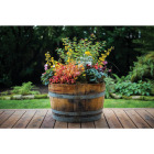 Real Wood Products 26 In. Half Oak Barrel Planter Image 1