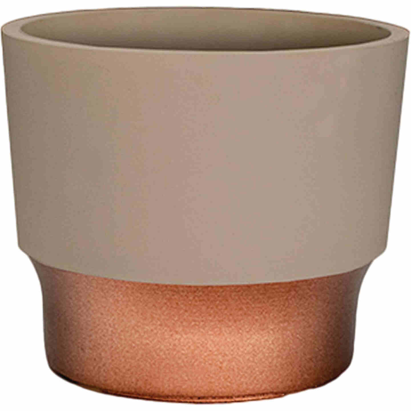 HC Companies Sprite 3 In. x 3 In. x 2.5 In. Resin Artisan Taupe Succulent Pot Image 1