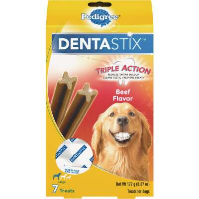 Pedigree Dentastix Large Dog Beef Flavor Dental Dog Treat (7-Pack)