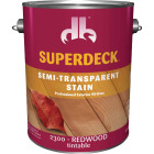 Duckback SUPERDECK Semi-Transparent Exterior Stain, Redwood, 1 Gal. Image 1