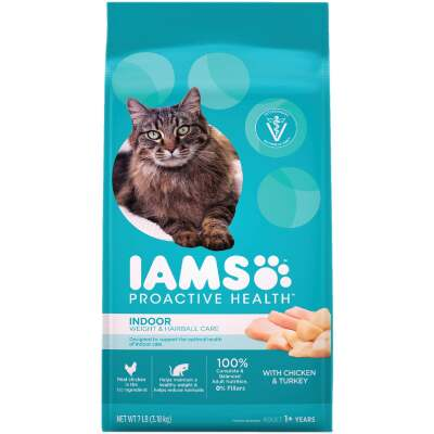 Iams Proactive Health Weight & Hairball Care 7 Lb. Chicken & Turkey Flavor Adult Dry Cat Food