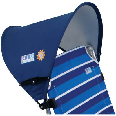 Rio Brands 17.5 In. L x 20.5 In. Dia. Blue Nylon Beach Chair Canopy