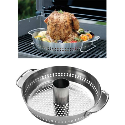 Weber Gourmet Barbeque System Stainless Steel Poultry Roaster