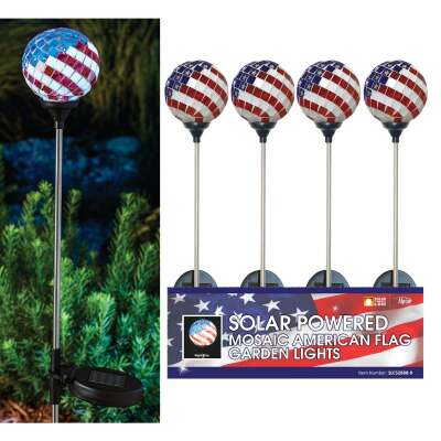Solaris Americana Glass Globe 33 In. H. Solar Stake Light