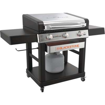 Blackstone Culinary Pro 3-Burner Black/Stainless Steel 16,000 BTU LP Gas Griddle with Hood