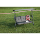 Outdoor Expressions 3-Person 71.65 In. W. x 66.93 In. H. x 49.21 In. D. Gray Patio Swing Image 4