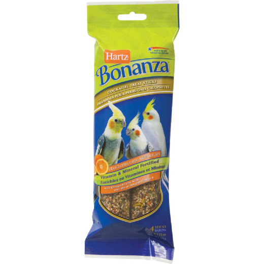 Hartz Bonanza 7.5 Oz. Cockatiel Bird Treat Stick (4-Pack)