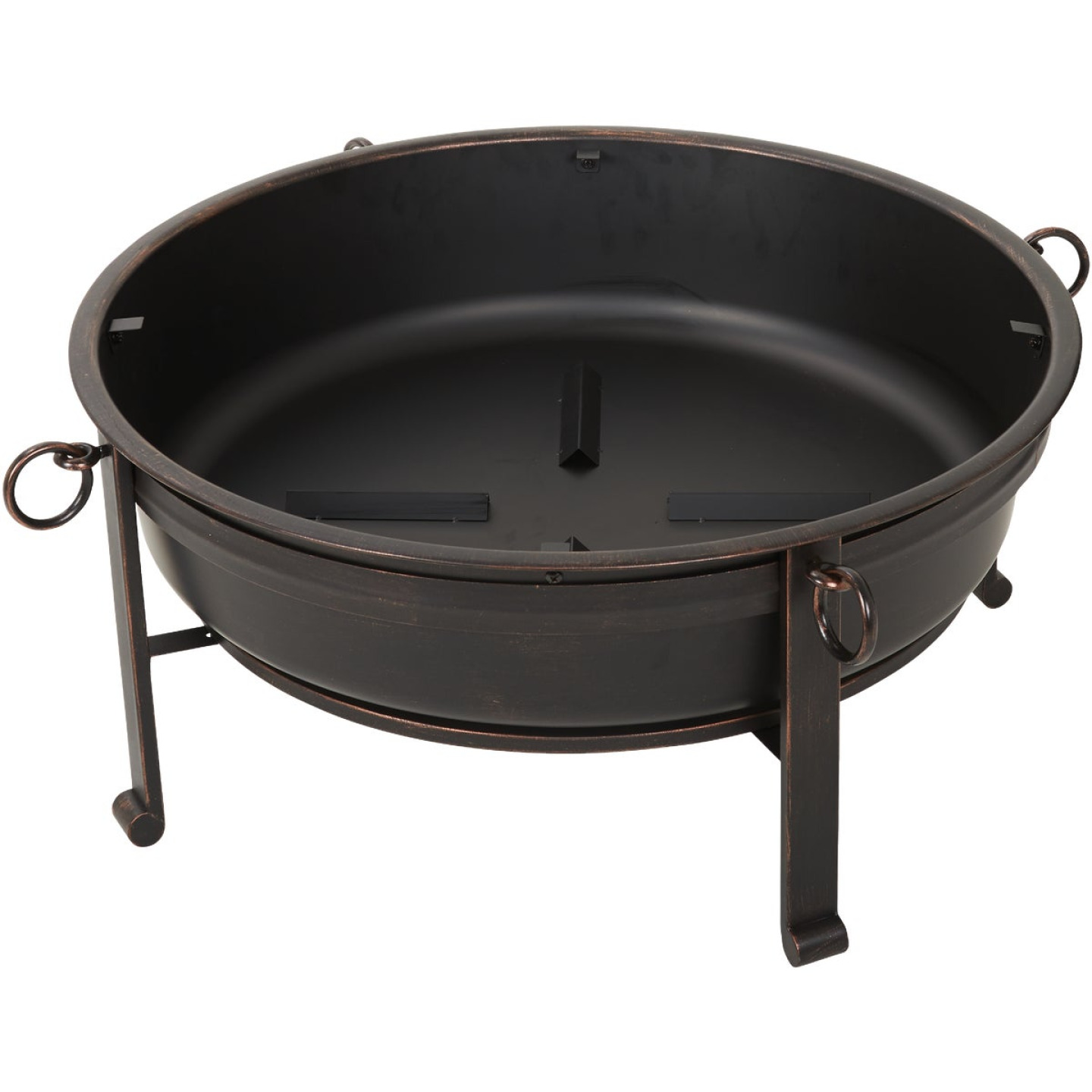 Outdoor Expressions 30 In. Antique Bronze Deep Bowl Steel Fire Pit Image 4