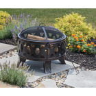Outdoor Expressions 26 In. Antique Bronze Deep Bowl Steel Firepit Image 2
