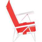 Rio Brands Wave 5-Position Persimmon Red Steel Folding Beach Chair Image 3