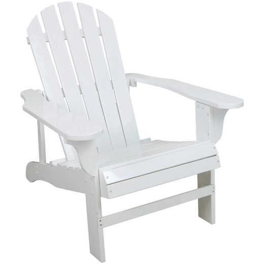 Leigh Country White Acacia Wood Adirondack Chair