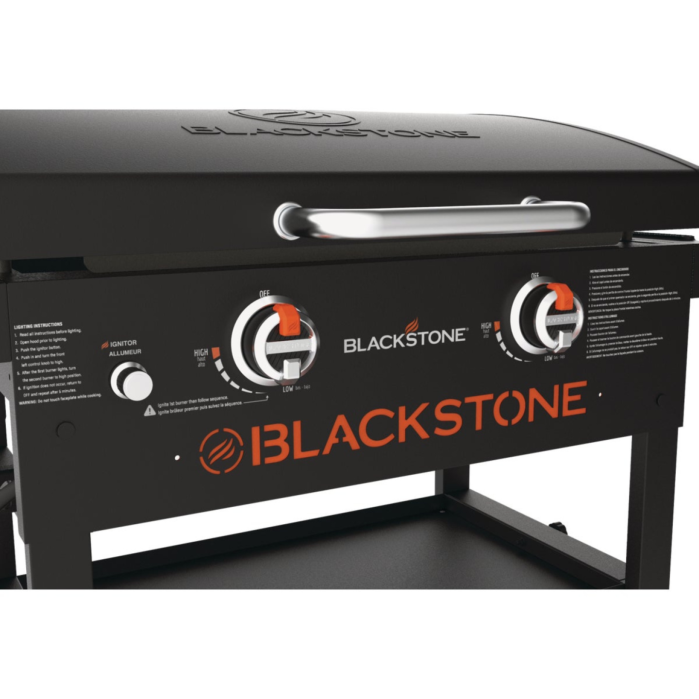 Blackstone Original 2-Burner Black 17,000-BTU LP Gas Griddle Image 3
