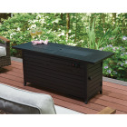 Outdoor Expressions 56 In. x 21 In. Rectangular Propane Fire Pit Table Image 6