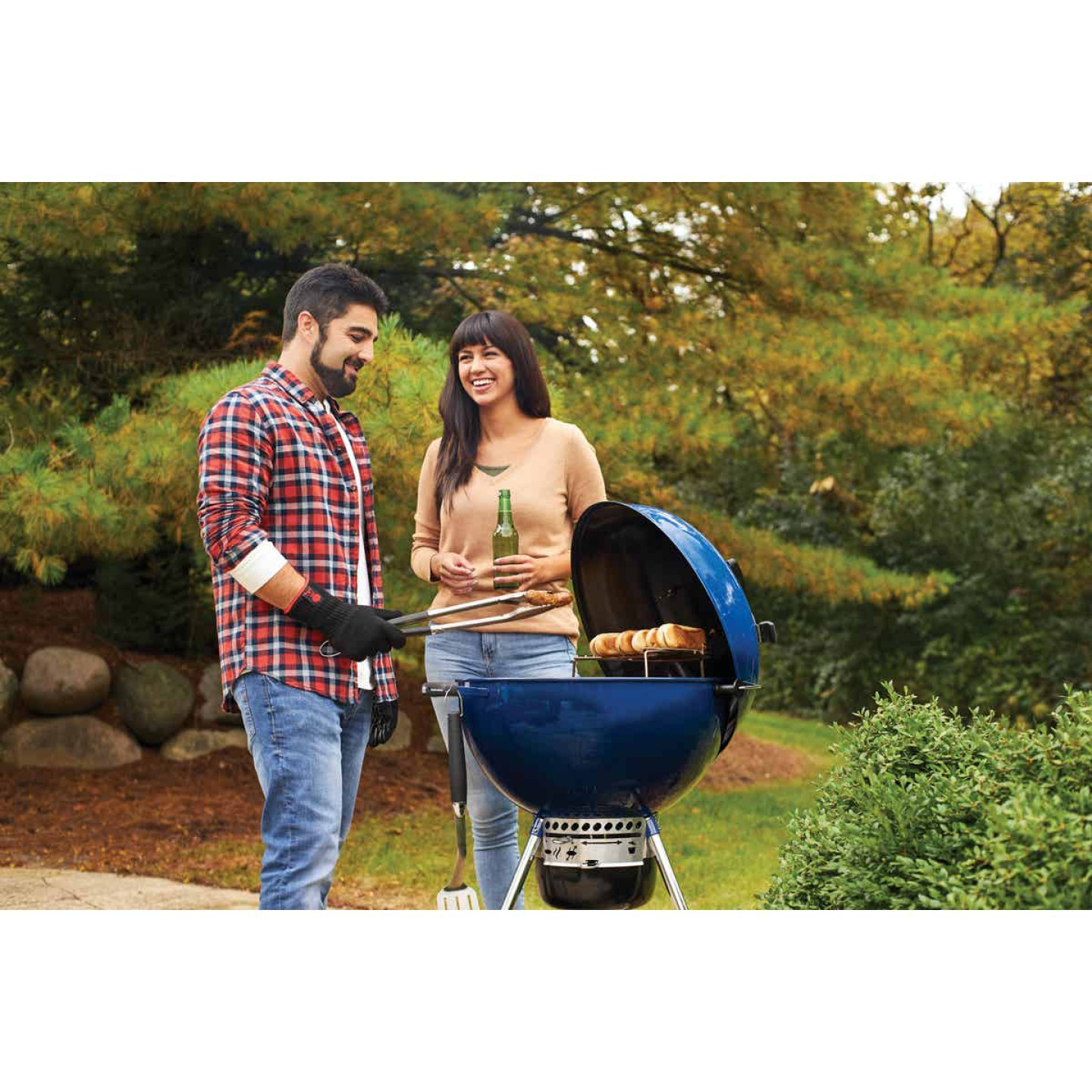 Weber Master-Touch 22 In. Dia. Deep Ocean Blue Charcoal Grill Image 4
